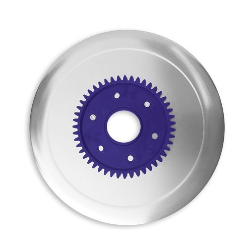 Schinkenmesser elektrolytisch poliert lila für RITTER Multischneider fortis 1, fondo 1, pino 2, E 16, E 18, E19, E 21, E 118, AES/Allesschneider / Messer/Ersatzmesser / Aufschnittmesser