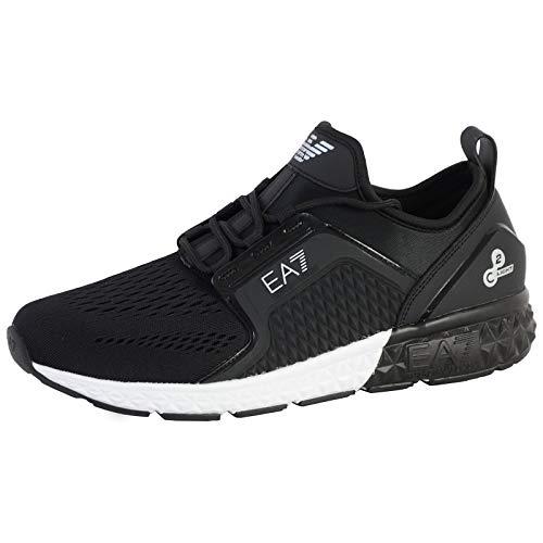 EMPORIO ARMANI EA7 Spirit C2 Premium U Zapatillas Moda Hombres Negro - 40 - Zapatillas Bajas