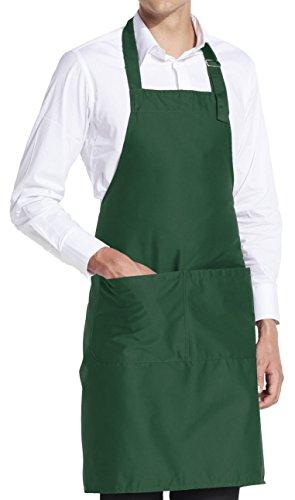 vanVerden Grillschürze Kochschürze Küchenschürze Herren Damen 5 Farben, Color:Bottle Green (Dunkel Grün)