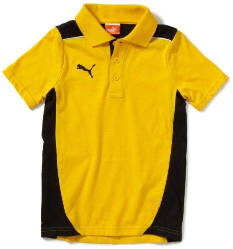PUMA Kinder Polo Shirt Foundation, Team Yellow-Black, 152, 653097 07 (Mädchen Schuhe 12 Puma)