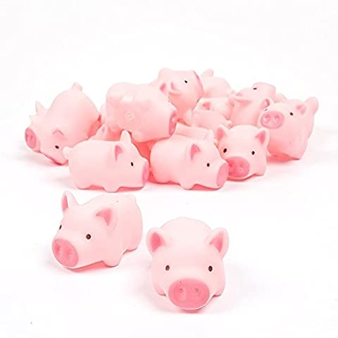 TOYMYTOY 10pcs Rubber Pig Baby Bath Toy pour enfant Bébé Enfants