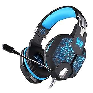 KARTELEI Gaming Kopfhörer Bass Surround für PS4, PC, Xbox One Noise Cancelling Headset mit Mikrofon Soft Memory Ohrenschützer für Laptop Mac Nintendo Switch Spiele