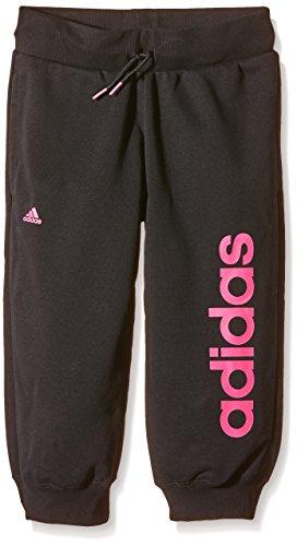 Adidas Essentials Linear Pantalon 3/4 pour fille Noir - Black/Super Pink F15