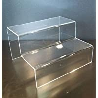 LARGE 2 TIER/STEP ACRYLIC DISPLAY STAND RETAIL SHOP RISER - PDS9025