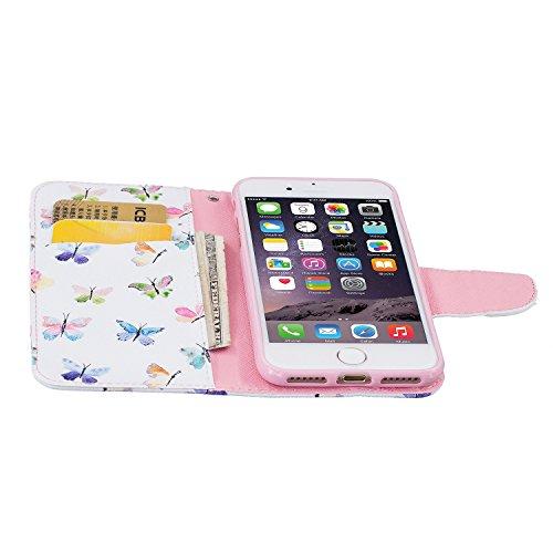 TIODIO® Housse en cuir Pour Apple iphone 7 / iphone 7G PU étui en cuir / case/ coque/ cover/ housse avec la fonction de stand+1 x Stylet+1 x film de protection d'écran, A05 A04