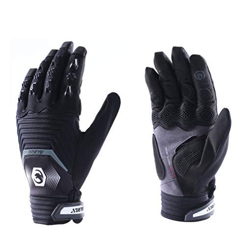 Guanti Moto da Uomo Full Finger Leather Moto Guanti da Moto Motocross Guanti da Equitazione protettivi XL