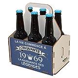 Porte-bouteilles de bière en bois, pack de 6 bières, panier de 6, panier pour six...