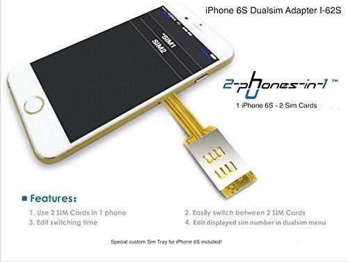 62s Dual Sim Adapter I-62S inklusive Case für Apple iPhone 6S (Dual-sim-karte Iphone)