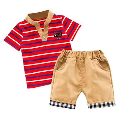 Yesmile Sommer Kinder Kleidung Jungen Navy gestreiften T-Shirt und Hosen Anzüge Shorts Outfits Kleidung Set T-Shirt + Shorts Hosen Hosen Outfits -