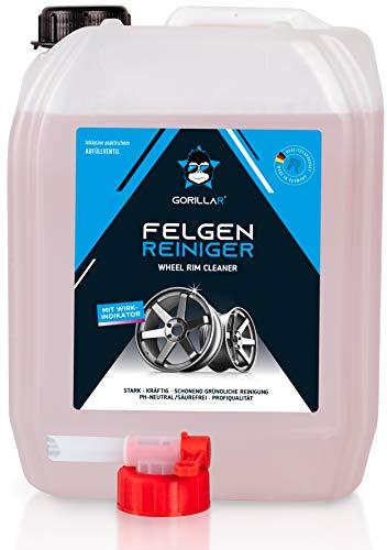 GORILLAR Felgenreiniger 5L, Autopflege für Alufelgen, säurefrei, ph neutral