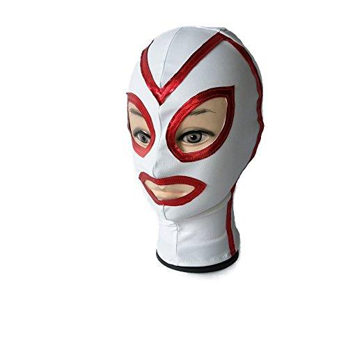 ShineBlue BDSM SM Bondage Haube Fetisch Maske Slave Restraint Maske Halloween Party Kostüm (Weiß)