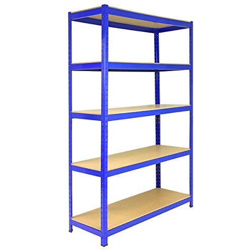 Great Buy for 3 Bay Garage Racking Shelves / Shed Greenhouse Shelving 5 Tier 120cm x 45cm x 180cm T-RAX + FREE Rubber Mallet on Line