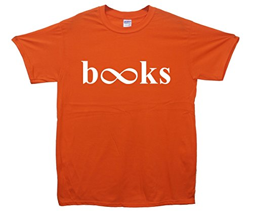 Books Infinity Crop Top Orange