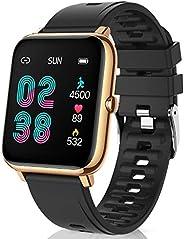 CanMixs Smartwatch Reloj Inteligente Mujer y Hombre, 1.4'' Impermeable IP67 Pulsera Actividad Intelige