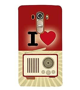 Fiobs Designer Back Case Cover for LG G4 :: LG G4 Dual LTE :: LG G4 H818P H818N :: LG G4 H815 H815TR H815T H815P H812 H810 H811 LS991 VS986 US991 (Home Radio Love Music)
