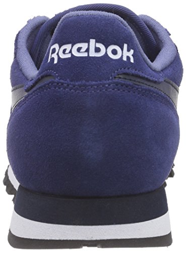 Reebok Herren Classic Leather Suede Laufschuhe Blau (Midnight Blue/Collegiate Navy/White/Black)