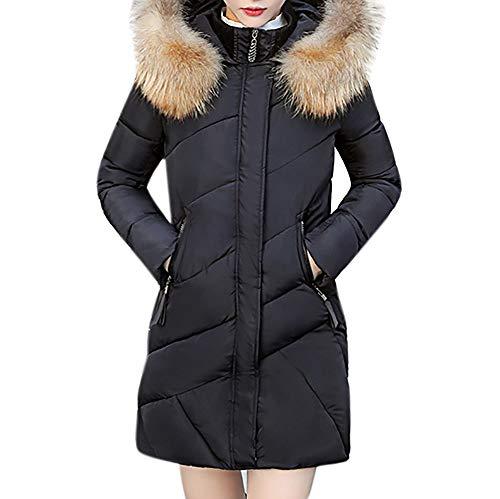 Cappotto donna, uomogo donna elegante giacca invernale corta trapuntata da donna piumino giacca con cappuccio calda cappotti