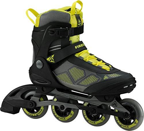 FIREFLY Herren Inline Skate FF Alu 84 Man Inlineskates, gelb (Yellow/Grey/Black), 45