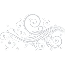 GRAZDesign 560019_40_072 Wandtattoo Blumen und Ornamente | Blumentattoo für Wohnzimmer - Schlafzimmer - Küche | Blumenranken und Pflanzen an die Wand als Wand-Aufkleber (68x40cm//072 hellgrau)
