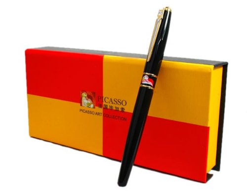 picasso-show-off-art-pure-black-rollerball-pen-new