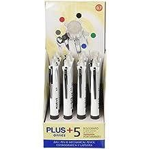 Plus Office +5 - Bolígrafo, expositor 12 unidades