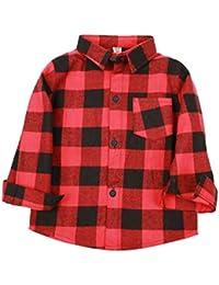 Ropa para Niños Niños Niños Algodón Camisas A Cuadros Otoño Y Primavera Niños Bebés Camisetas De