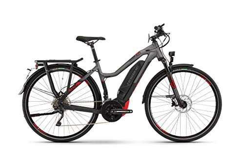 Haibike Sduro Trekking S 8.0 Damen Pedelec E-Bike Fahrrad grau/schwarz/rot 2019: Größe: XS
