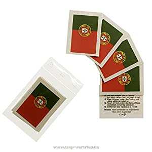 5er Portugal Tattoo Fahne Fan Set – EM Fanartikel 2016 – Portugal Flag (5)
