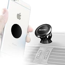 Wuteku Besten handyhalter für das autos, 100% universelles und magnetisches von für alle Fahrzeuge, Handys und Tablets | Kompatibel mit iPhone XR, XS, X, 8 | 2 Scheiben & Platte