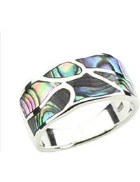 DTPsilver -Ring 925 Sterling Silber mit Abalone Muschel, Paua Perlmutt