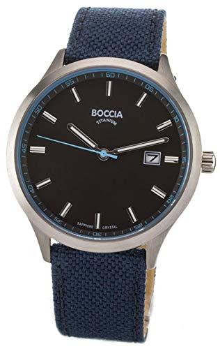 Boccia Reloj Analógico para Hombre de Cuarzo con Correa en Cuero 3614-02