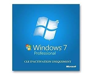 Windows 7 Edition Professionnel 32 bits & 64 bits - 1 poste - CLE D'ACTIVATION UNIQUEMENT - Produit français - Vendeur français - INFOrub - MagasinDuGeek