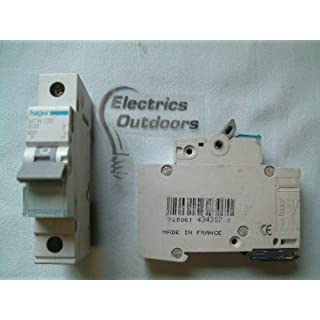 Hager MTN132 Miniature Circuit Breaker, 1 Pole, 1 Module, Type B, 6 kA Breaking Capacity, 32 A Current