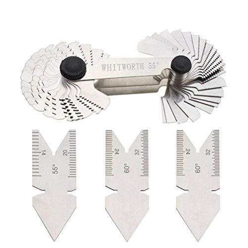 52 Blatt Gewindelehre Messlehre Gewindeschablone 0,25-6 mm Metrisch Zoll Werkzeug 4-62G Whitworth Schraubengewinde Messwerkzeug