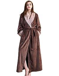 f2c06c29d2 Ladies Winter Fleece Dressing Gown Pink Grey Women Long Bathrobe M L XL  Housecoat Nightgown Super Soft Warm Sleepwear Girls Lightweight…
