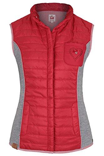 Damen Spieth & Wensky Trachten Steppweste rot, rot/grau, L
