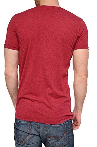 Phazz Brand Munich Herren Shirt Motiv T-Shirt ROCK, Farbe: Dunkelrot Dunkelrot