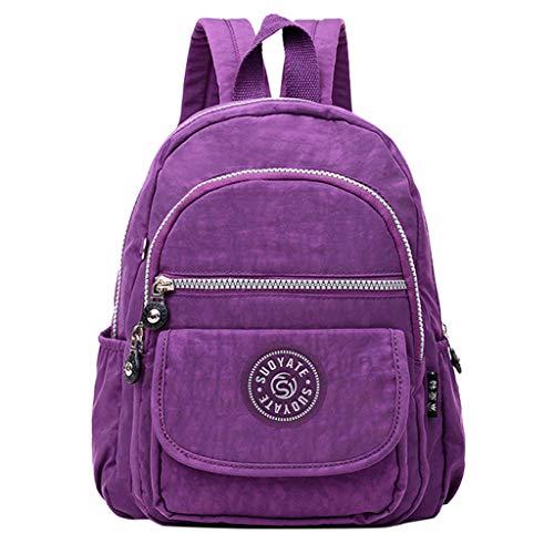 SCEMARK Damen Umhängentasche Rucksack Unisex Alltagstasche/Backpack für Jungen Teenager Lässig Wasserdichte Schultasche Reise Daypacks