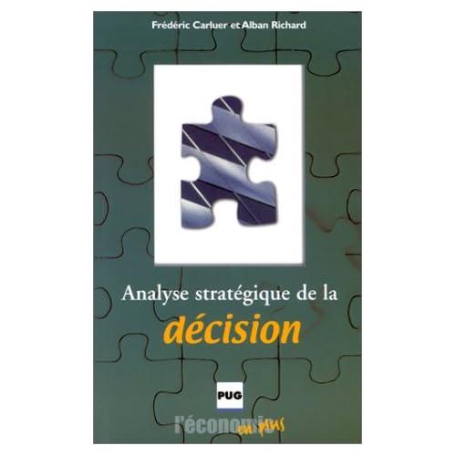 Analyse stratégique de la décision