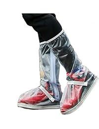 buy popular 79e06 af9d9 LUCHA - Funda Impermeable para Zapatos de Lluvia con Botones Ajustables  para cinturón Reutilizable, Mujer