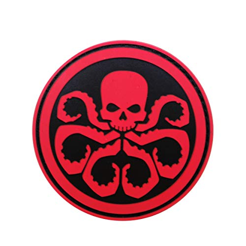 Cobra Tactical Solutions PVC Patch Marvel Avengers Hydra mit Klettverschluss für Cosplay/Airsoft/Paintball für Taktischen Rucksack Kleidung (Rot)