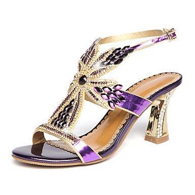 Rtry Femmes Sandales Été Automne Club Chaussures Confort Nouveauté Microfibre Fête De Mariage Et Robe De Soirée Stiletto Heelrhinestone Cristal S Us5 / Eu35 / Uk3 / Cn34
