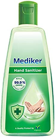 Mediker Hand Sanitizer,70 % Alcohol Based Sanitizer,Instantly Kills 99.9% Germs Without Water,Use Anytime, Any