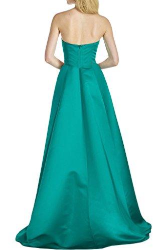 Promgirl House Damen Prinzessin Herz-Ausschnitt A-Linie Abendkleider Ballkleider Festkleider Lang Blau