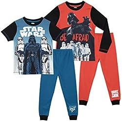 STAR WARS Pijamas para Niños 2 Paquetes La Guerra de Las Galaxias 12-13 Años