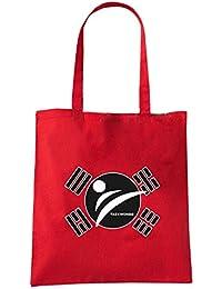T-Shirtshock - Bolsa para la compra TAM0176 taekwondo tshirt