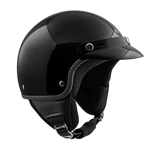 Casco demi jet SKA-P 1FH SMARTY Nero metal, L