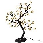 Lite casa albero luce catena con fiori albero in fiore 36LED bianco caldo decorazione natalizia albero interno LED DIY finestra decorazione soggiorno tavolo a batteria
