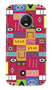 KAWACH Case/Back Cover for Moto G5 Plus - Tribal Print