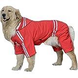 LineNow Mittelgroße Hunde Regenmantel Regenjacke Regenschutz Hundebekleidung für Hunde Katze Haustiere wasserdicht in 5 Größe
